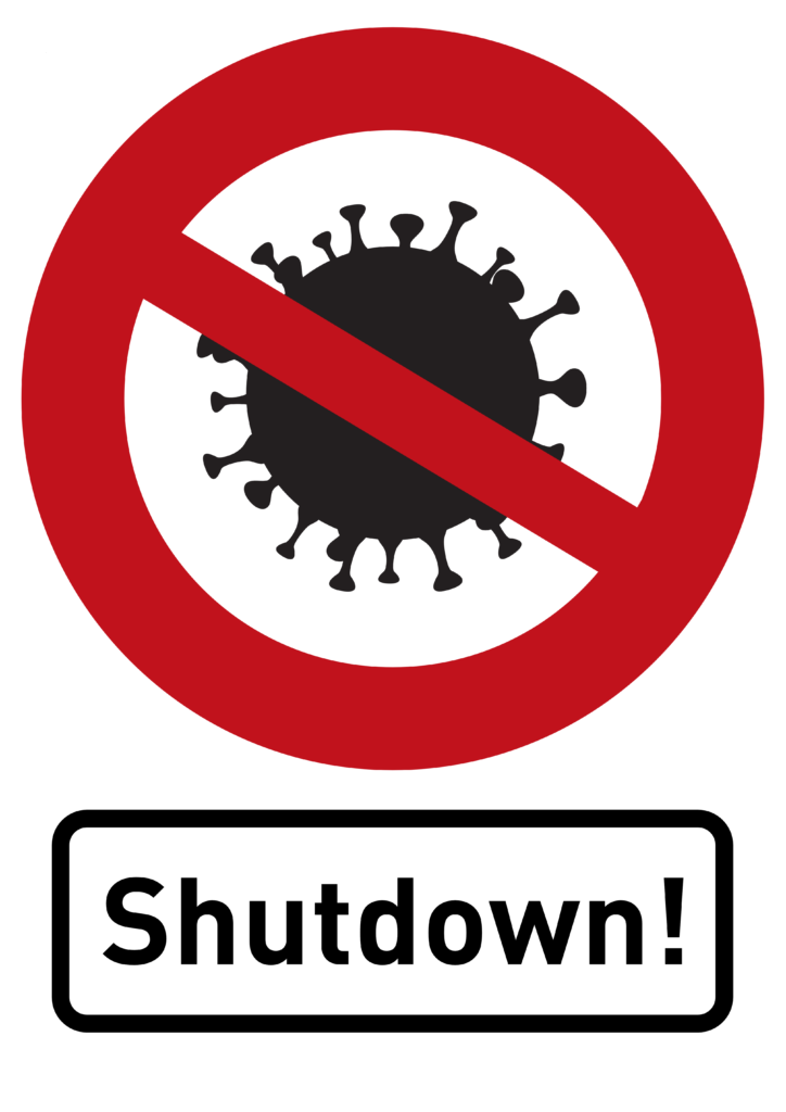 Free image download: Coronavirus, black, red, cropped, sign, shutdown, #000011-2