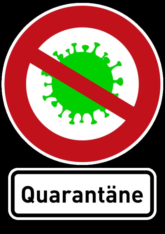 Free image download: Coronavirus, green, red, cropped, sign, quarantäne, #000011-3
