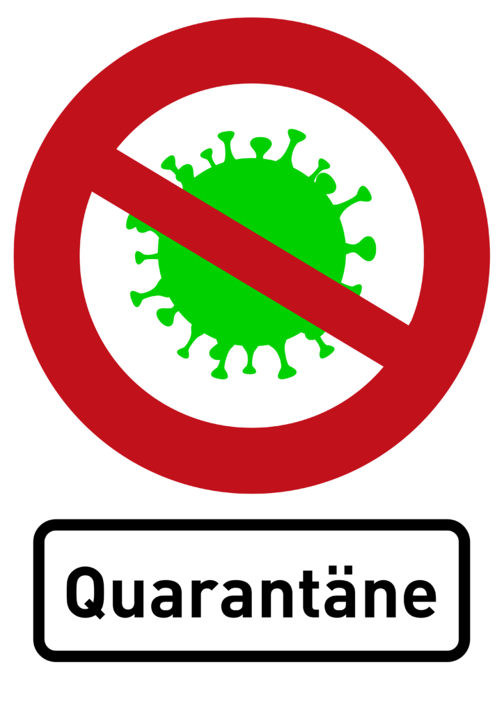 Free image download: Coronavirus, green, red, cropped, sign, quarantäne, #000011-3