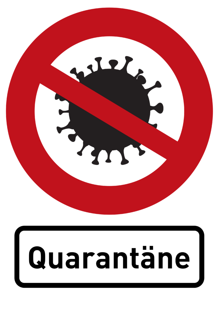 Free image download: Coronavirus, black, red, cropped, sign, quarantäne, #000012