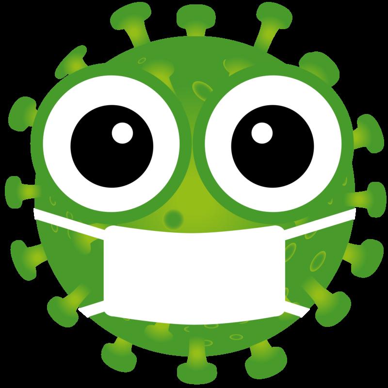 Free image download: Coronavirus, green, mouthguard mask, cropped, #00002