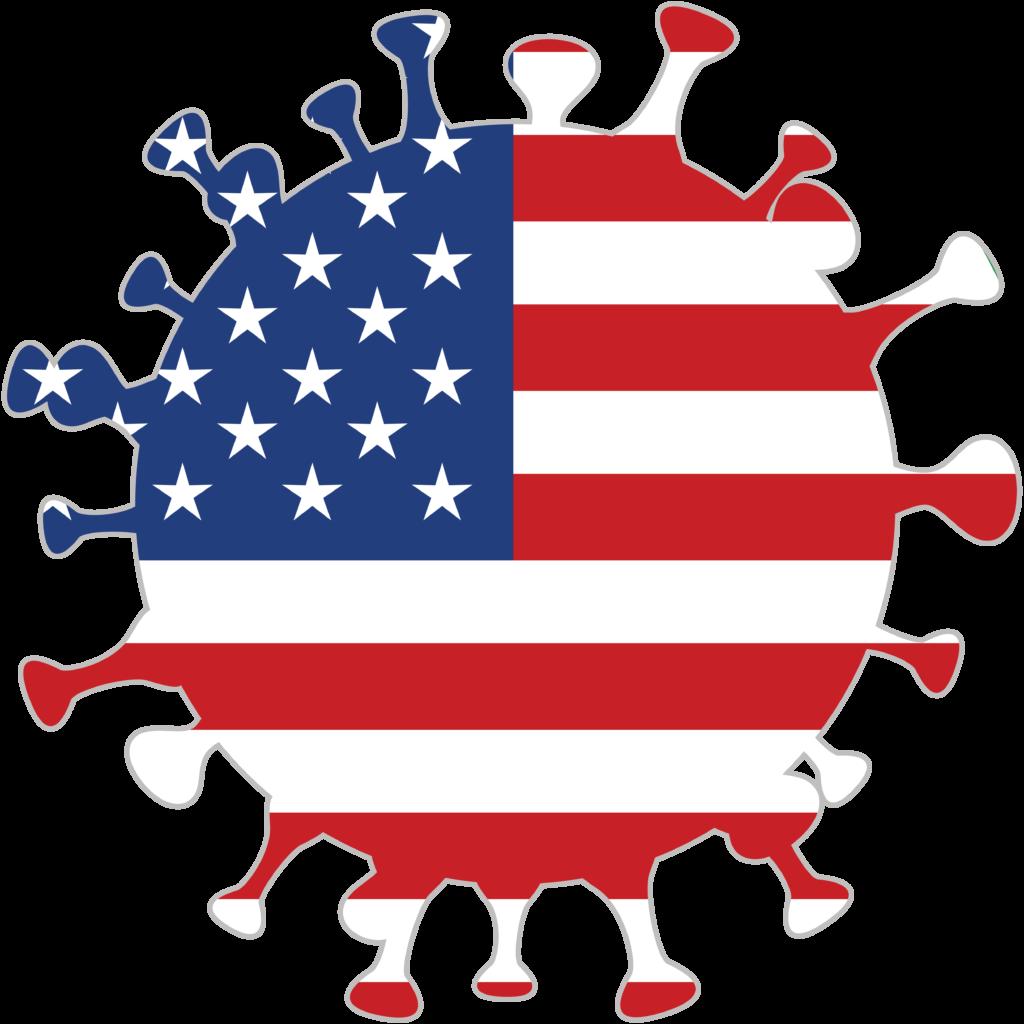 Free image download: Coronavirus, red, USA cropped, #000026