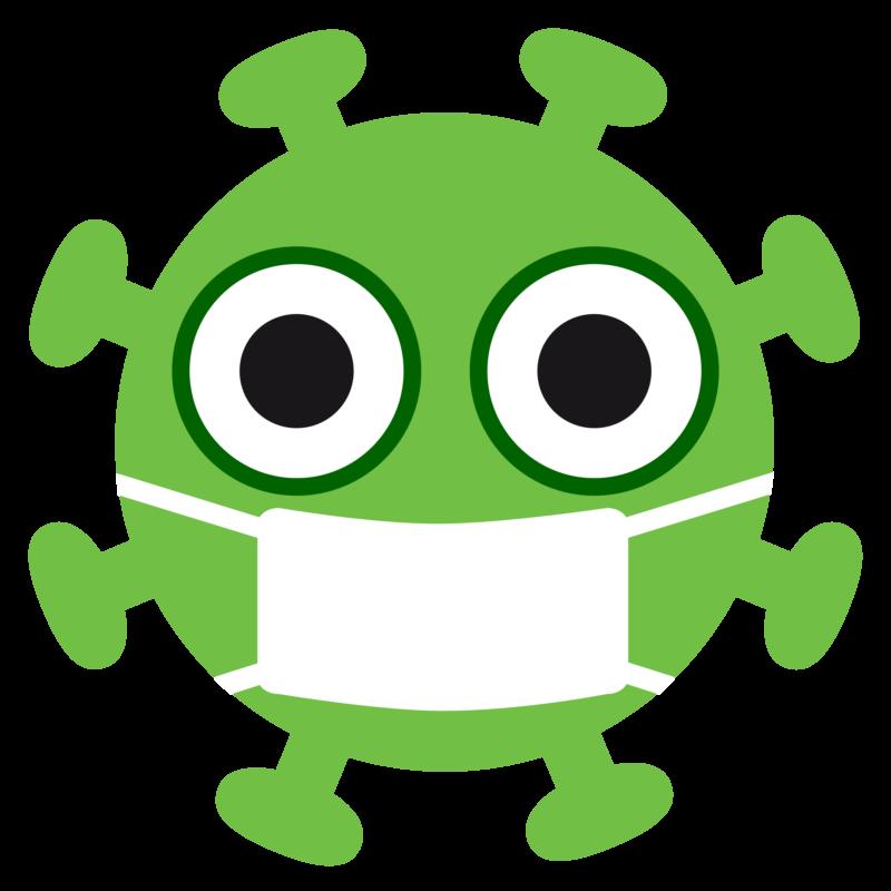Free image download: Coronavirus, green, orange, mouthguard mask, cropped, #000029