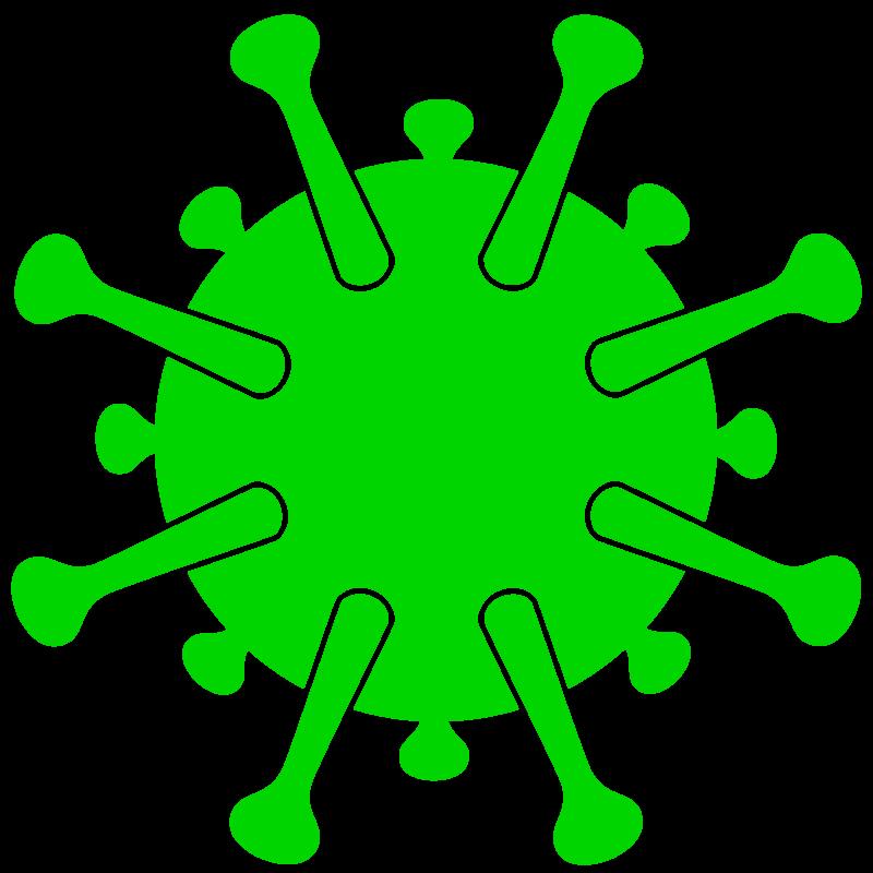 Free image download: Coronavirus, green, cropped, #000036