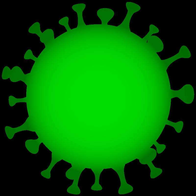 Free image download: Coronavirus, green, cropped, #00004