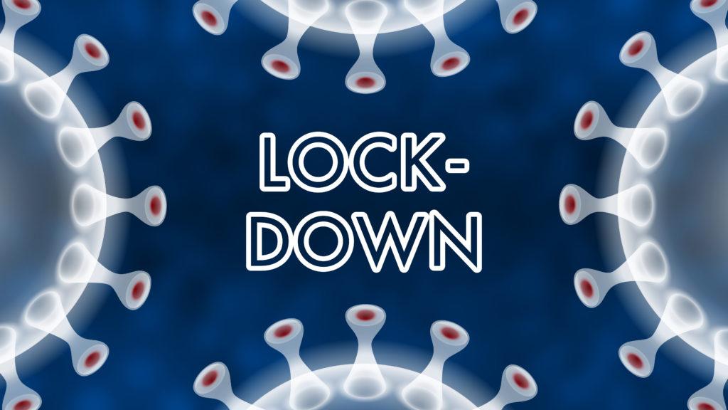 Free image download: Coronavirus, white, blue, labeled lockdown, #000102