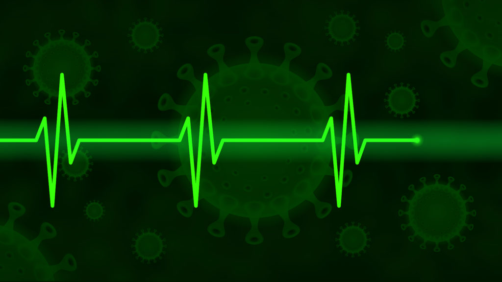 Free image download: Coronavirus, green, Electrocardiogram, ECG, EKG, Health, #000111