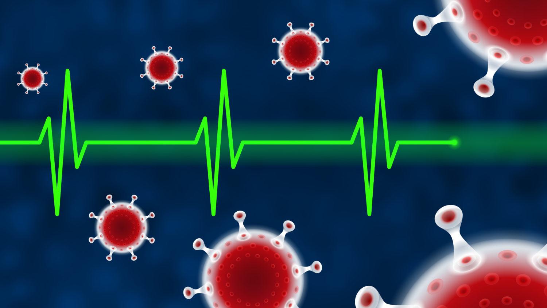 Free image download: Coronavirus, green, Electrocardiogram, ECG, EKG, Health, #000114