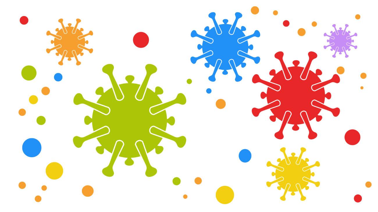 Free image from iXimus.de: Coronavirus, multicolored, colorful, red, blue, green #0000123