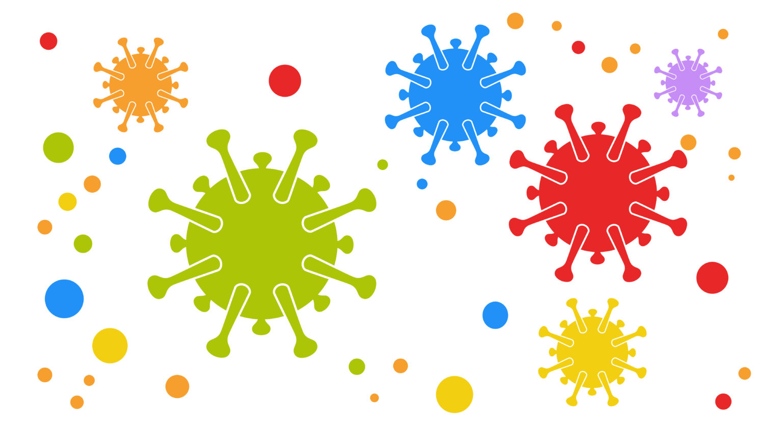 Free image from iXimus.de: Coronavirus, multicolored, colorful, red, blue, green #0000123