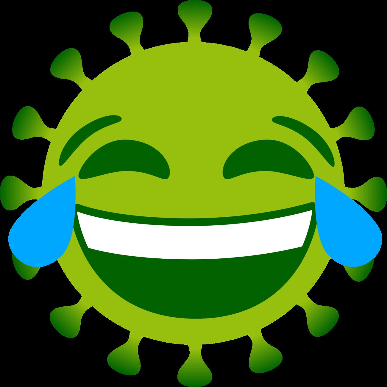 Free image from iXimus.de: Coronavirus, green, cropped, laughs, #0000129