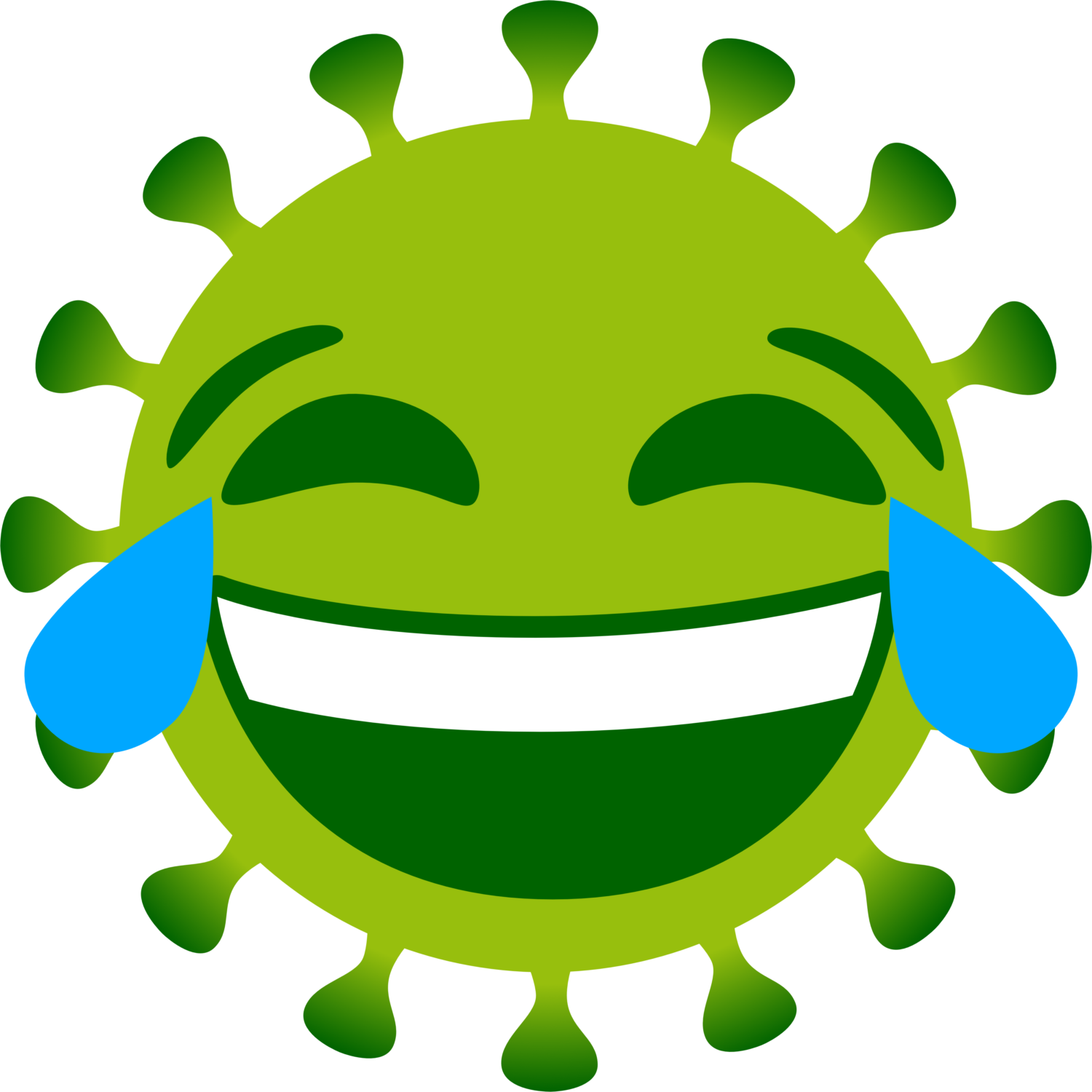Free image from iXimus.de: Coronavirus, green, cropped, laughs, #0000129