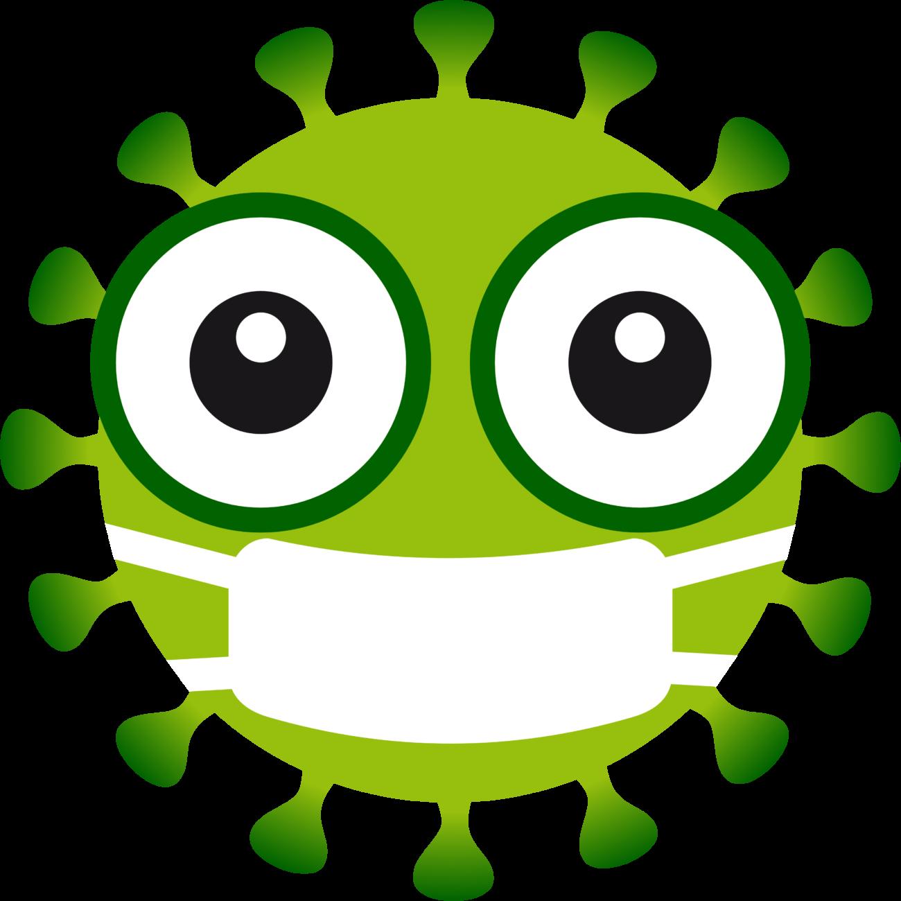 Free image from iXimus.de: Coronavirus, green, cropped, mouthguard mask, #0000130