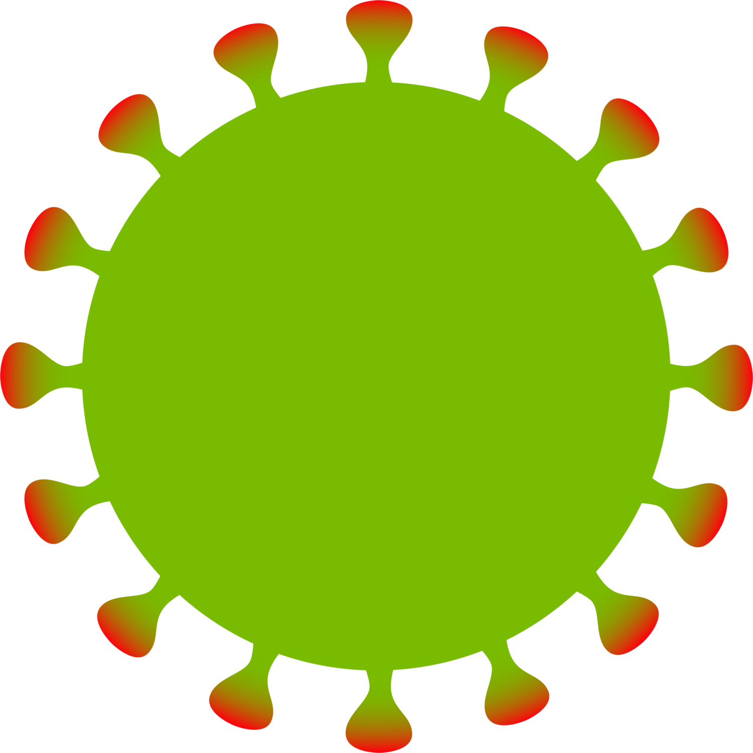 Free image from iXimus.de: Coronavirus, green, red, cropped, #0000131