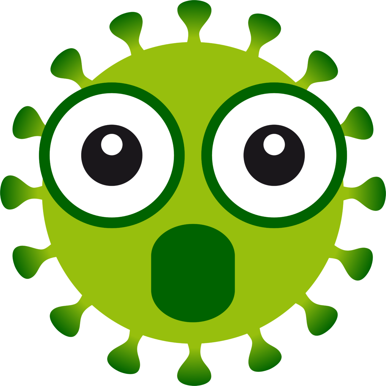 Free image from iXimus.de: Coronavirus, green, cropped, amazed, omg, #0000132
