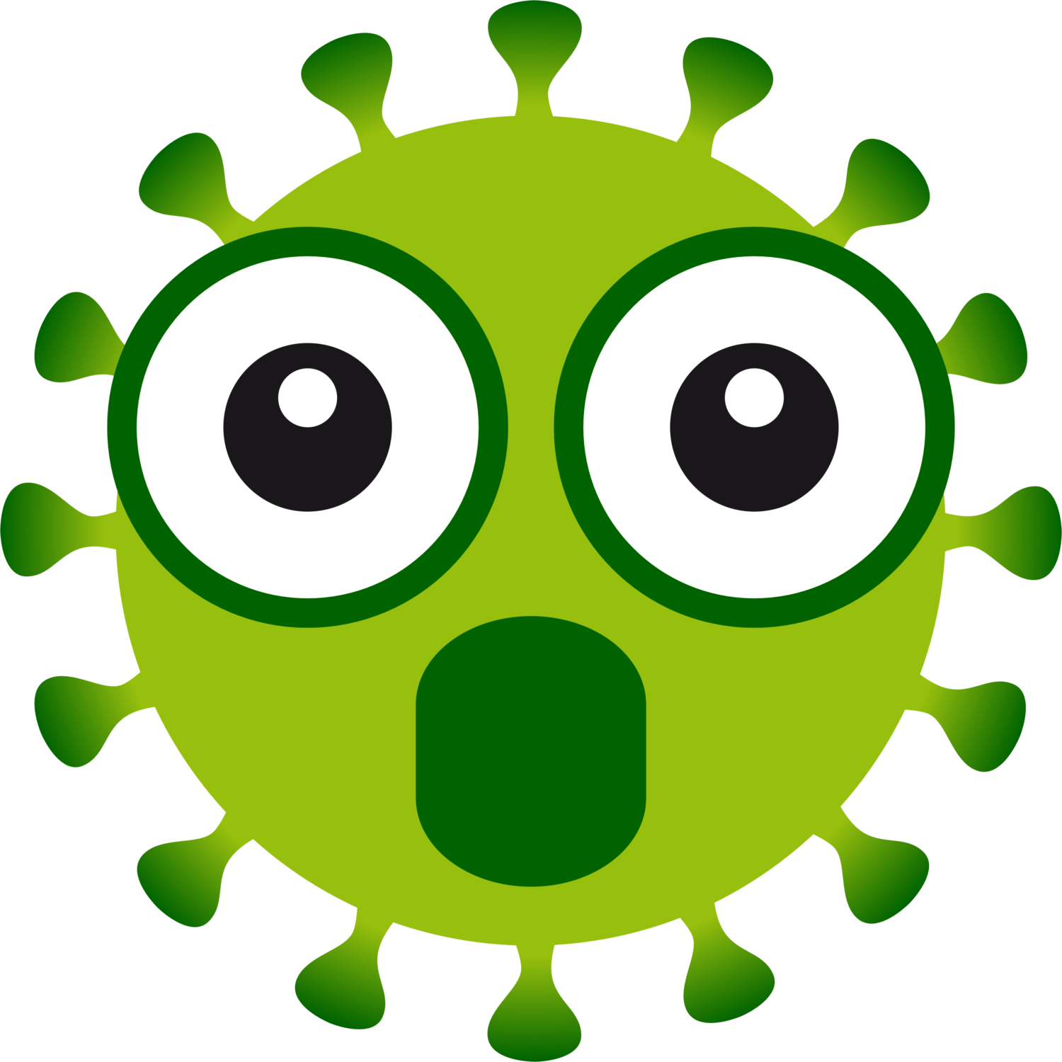 Free image from iXimus.de: Coronavirus, green, cropped, amazed, omg, #0000132