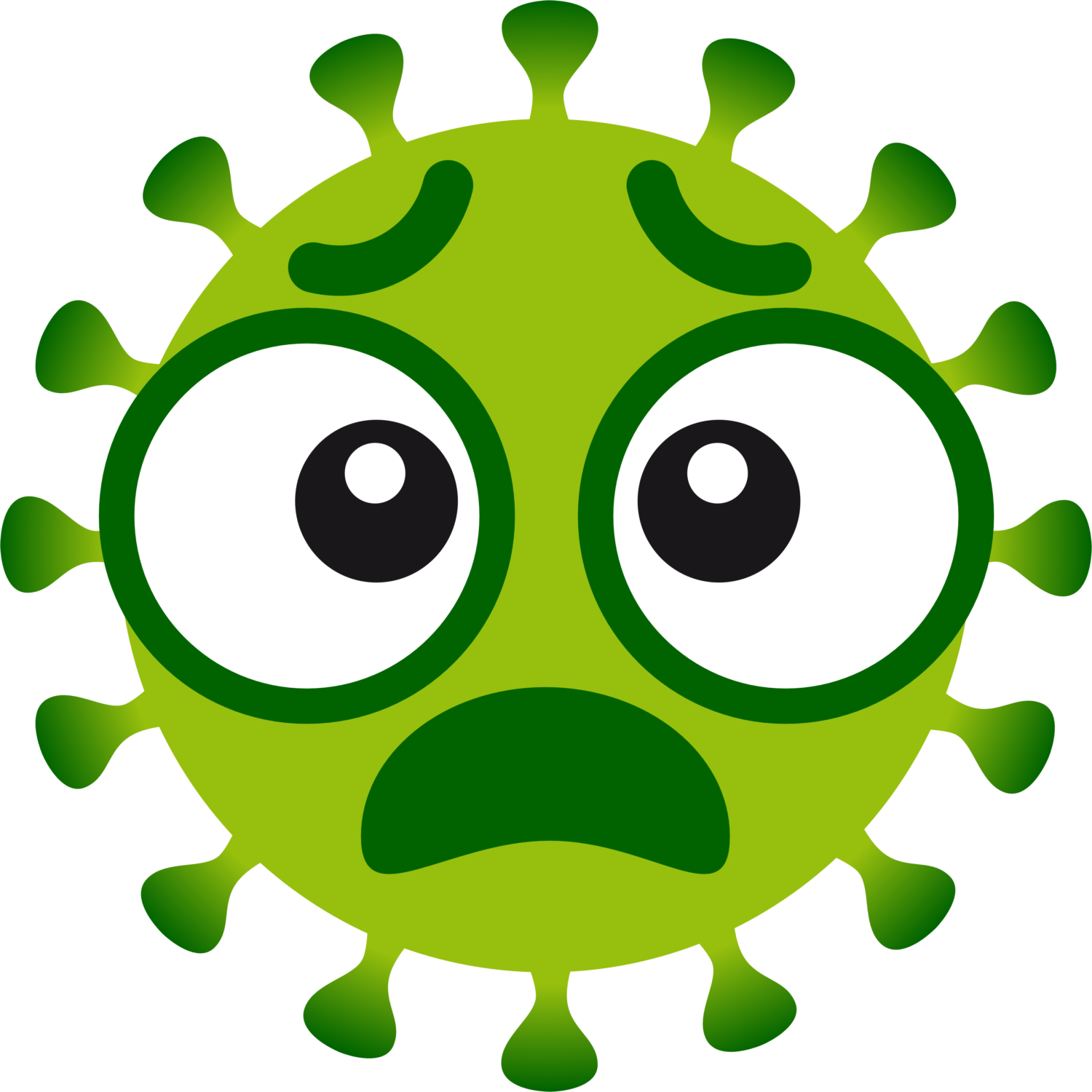 Free image from iXimus.de: Coronavirus, green, cropped, omg, horrified, #0000133