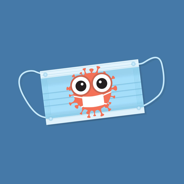 Free image from iXimus.de: mouthguard mask, coronavirus, blue, #000144