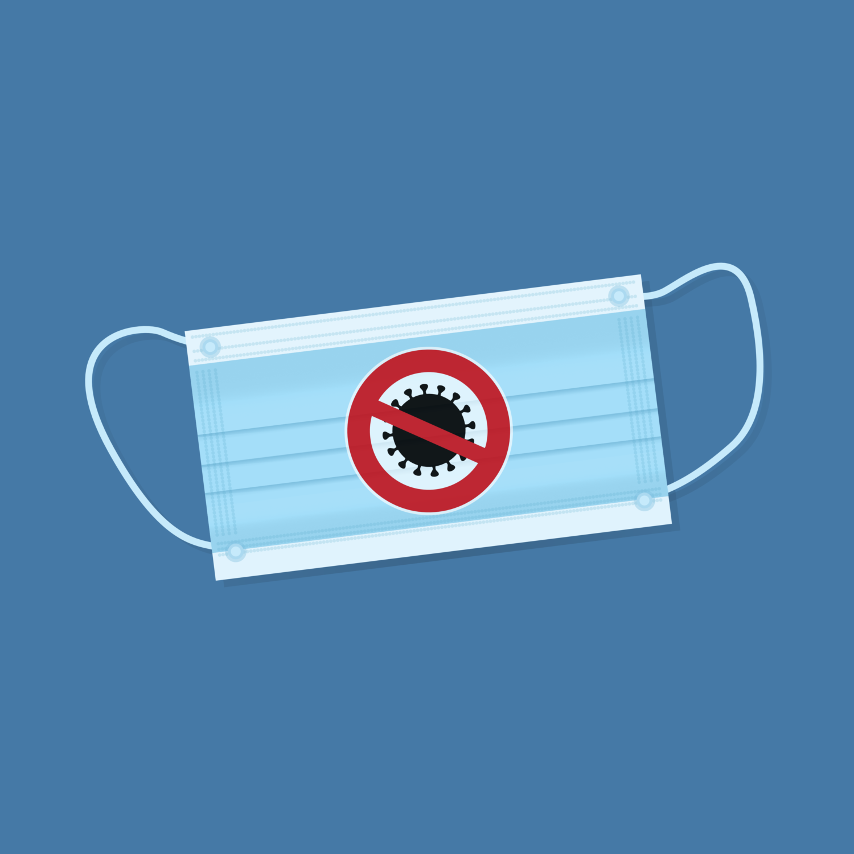Free image from iXimus.de: mouthguard mask, coronavirus, blue, #0000146