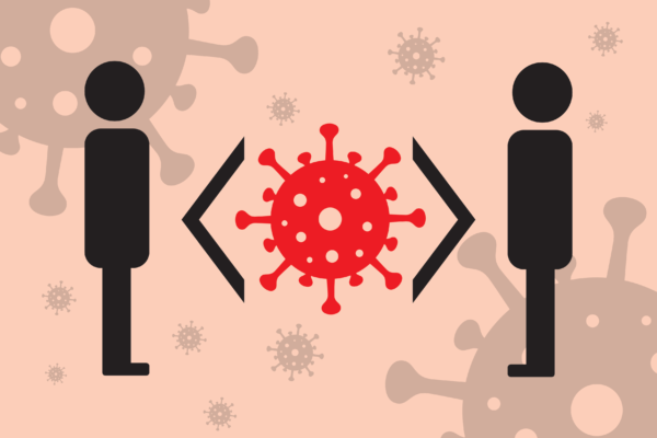 Free image from iXimus.de: social distance, black-and-white, Coronavirus, red, #000157