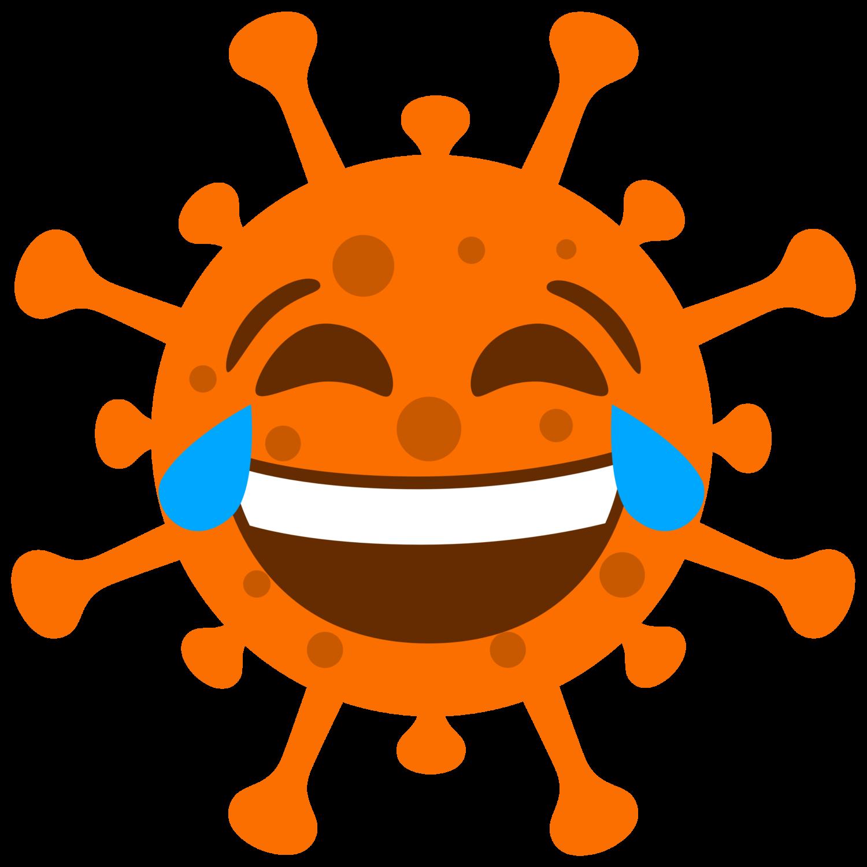 Coronavirus, orange, gepunktet, freigestellt, lachen, #000168