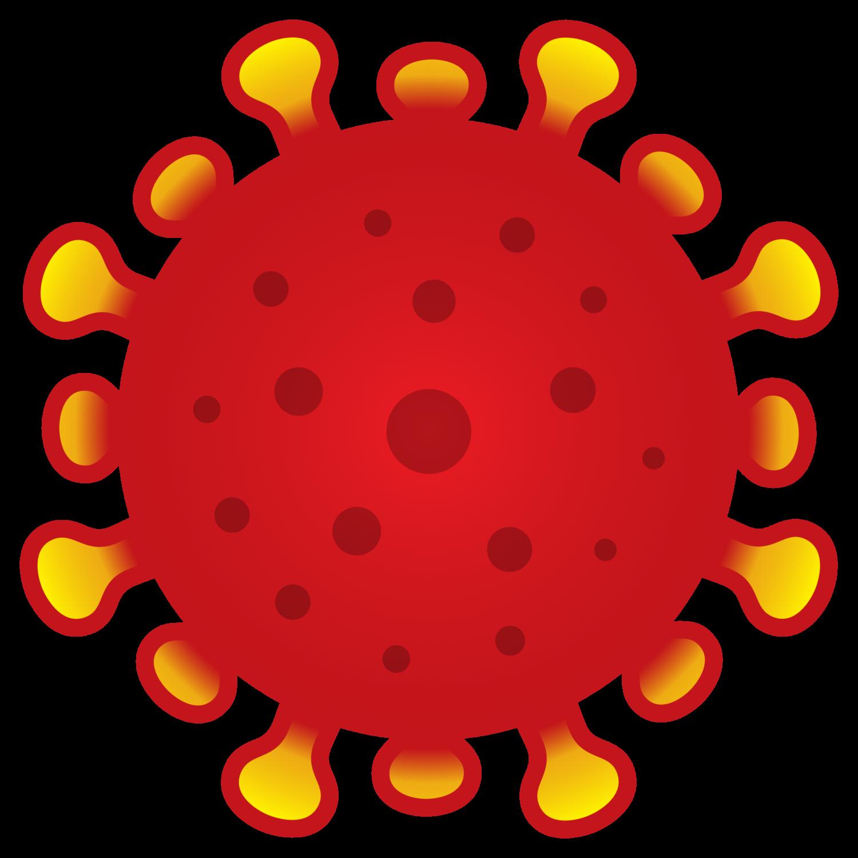 Gratis Download von iXimus.de: Coronavirus, rot/gelb, Kontur extra-fett, Corona, Covid-19, Virus, SARS-CoV-2, freigestellt, Vektor-Datei, #000170