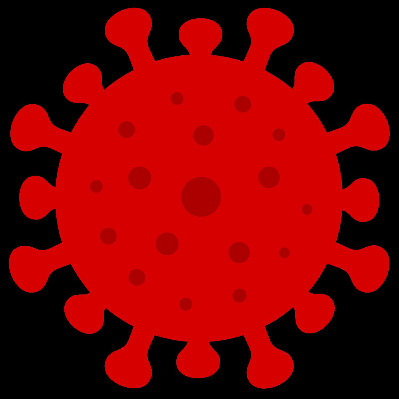 Gratis Download von iXimus.de: Coronavirus, rot, gepunktet, Corona, Covid-19, Virus, SARS-CoV-2, freigestellt, Vektor-Datei, #000178
