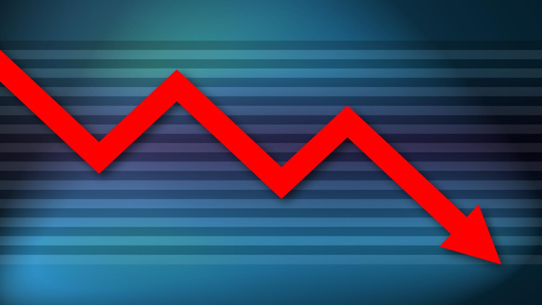 Gratis Download von iXimus.de: Diagramm, Krise, Kurve, abwärts, Verlust, Wirtschaft, Finanzen, Arbeitsplätze, rot, blau, #000182