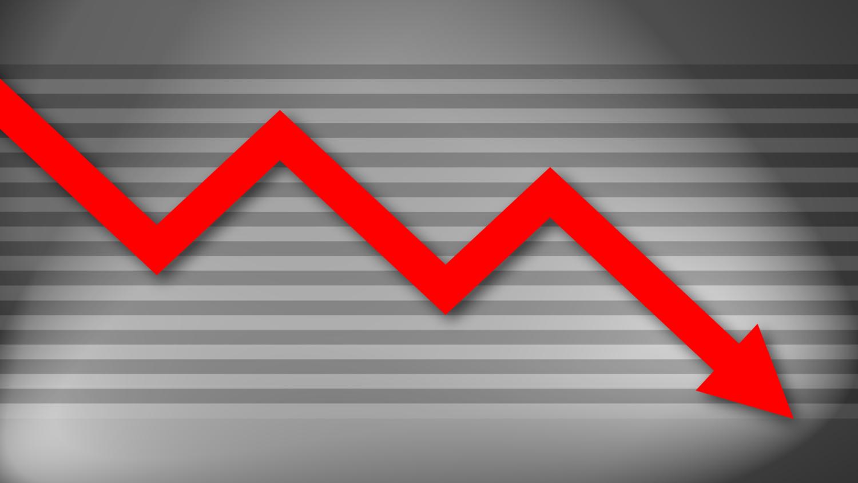 Gratis Download von iXimus.de: Diagramm, Krise, Kurve, abwärts, Verlust, Wirtschaft, Finanzen, Arbeitsplätze, rot, grau, #000184