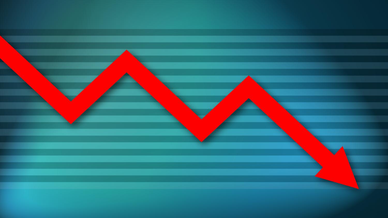 Gratis Download von iXimus.de: Diagramm, Krise, Kurve, abwärts, Verlust, Wirtschaft, Finanzen, Arbeitsplätze, rot, cyan, #000185