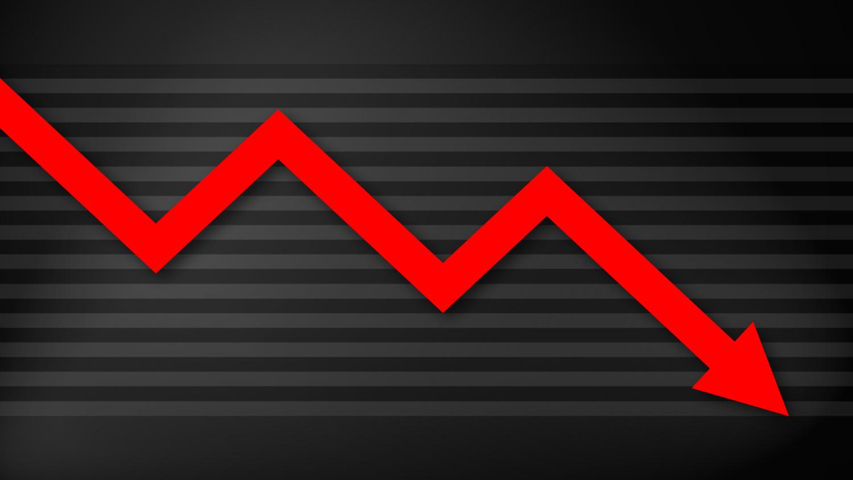 Gratis Download von iXimus.de: Diagramm, Krise, Kurve, abwärts, Verlust, Wirtschaft, Finanzen, Arbeitsplätze, rot, schwarz, #000186