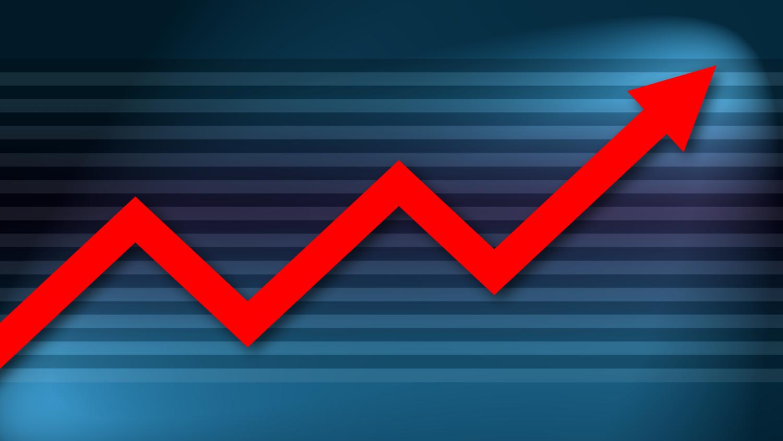 Gratis Download von iXimus.de: Diagramm, Prosperität, Kurve, aufwärts, Gewinn, Wirtschaft, Finanzen, Arbeitsplätze, rot, blau, #000187