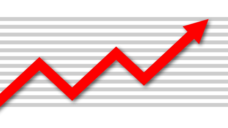 Gratis Download von iXimus.de: Diagramm, Prosperität, Kurve, aufwärts, Gewinn, Wirtschaft, Finanzen, Arbeitsplätze, rot, weiß, #000188