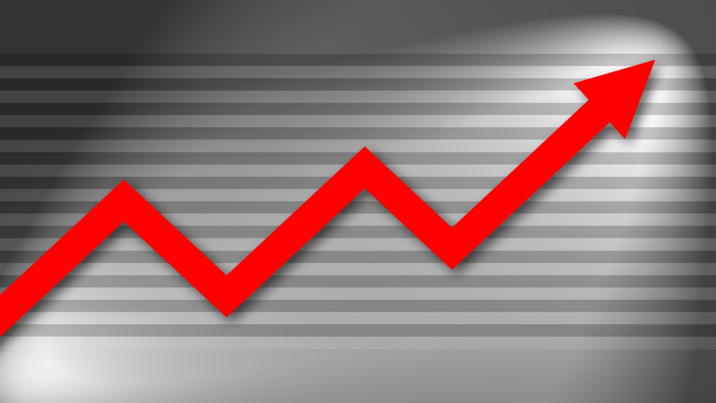 Gratis Download von iXimus.de: Diagramm, Prosperität, Kurve, aufwärts, Gewinn, Wirtschaft, Finanzen, Arbeitsplätze, rot, weiß, #000189