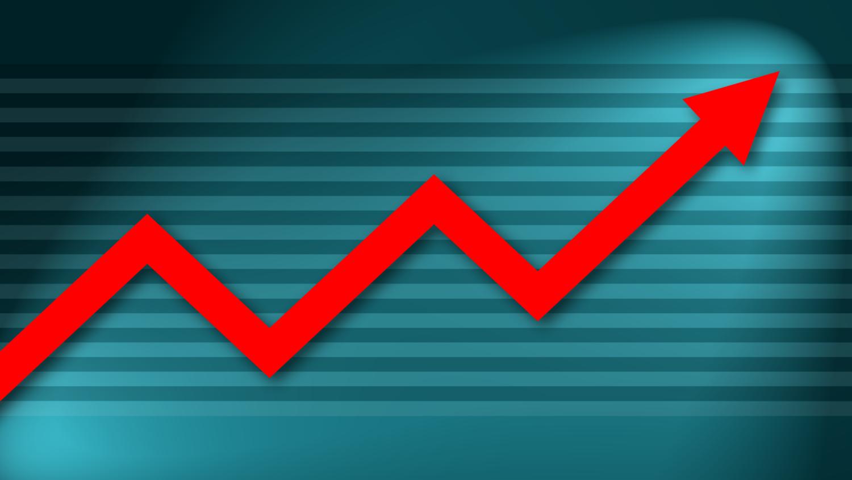 Gratis Download von iXimus.de: Diagramm, Prosperität, Kurve, aufwärts, Gewinn, Wirtschaft, Finanzen, Arbeitsplätze, rot, cyan, #000190