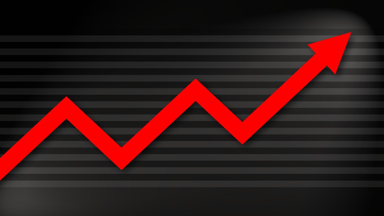 Gratis Download von iXimus.de: Diagramm, Prosperität, Kurve, aufwärts, Gewinn, Wirtschaft, Finanzen, Arbeitsplätze, rot, schwarz, #000191