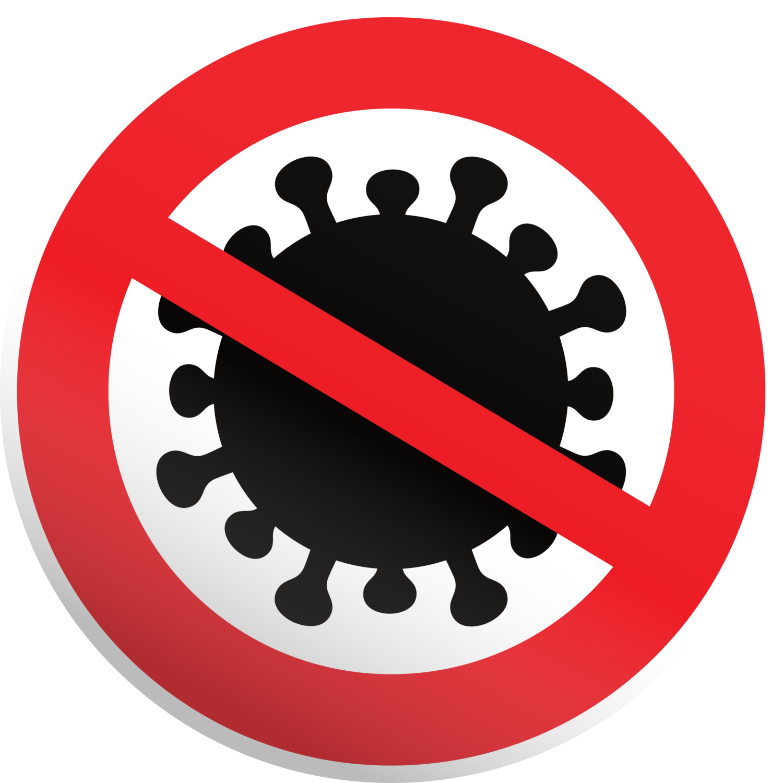 Gratis Download von iXimus.de: Coronavirus Schild mit Schatten, Verbot, Symbol, Corona, Virus, Covid-19, wuhan, Sars-Cov-2, Vektor-Datei, #000211