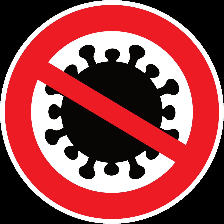 Gratis Download von iXimus.de: Coronavirus Schild, Verbot, Symbol, Corona, Virus, Covid-19, wuhan, Sars-Cov-2, Vektor-Datei, #000212