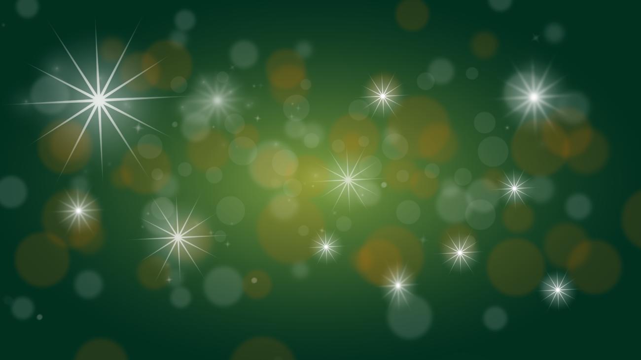 Gratis Download von iXimus.de: Weihnachten, Hintergrundbild, grün, gold, Sterne, Glitzer, #000221