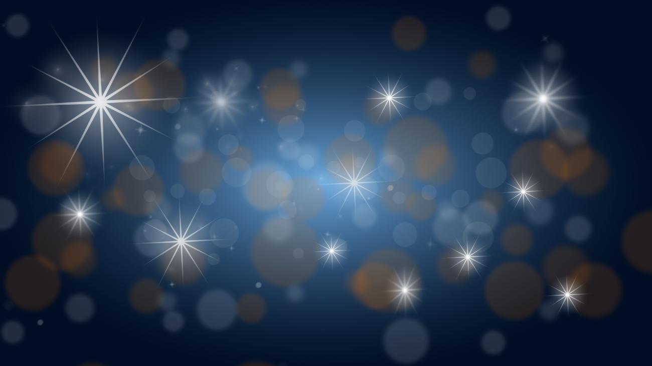 Gratis Download von iXimus.de: Weihnachten, Hintergrundbild, blau, gold, Sterne, Glitzer, #000222