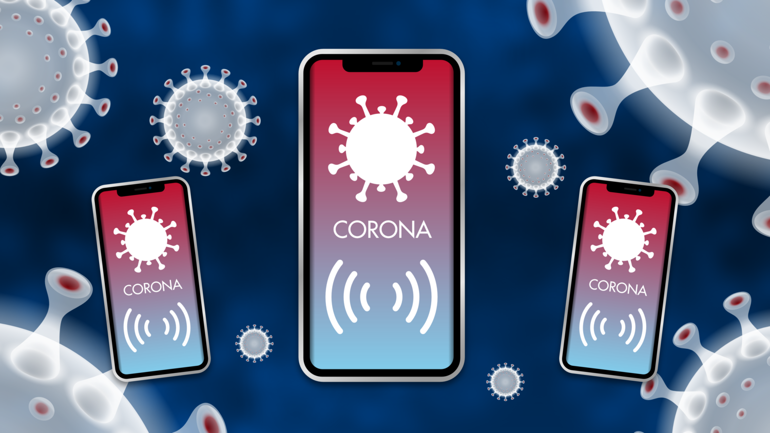 Gratis Download von iXimus.de: Smartphone, iPhone, Corona-App, Corona-Warn-App, iOS, Adroid, Deutschland, Covid-19, Corona, Application, transparenter Hintergrund, #000248