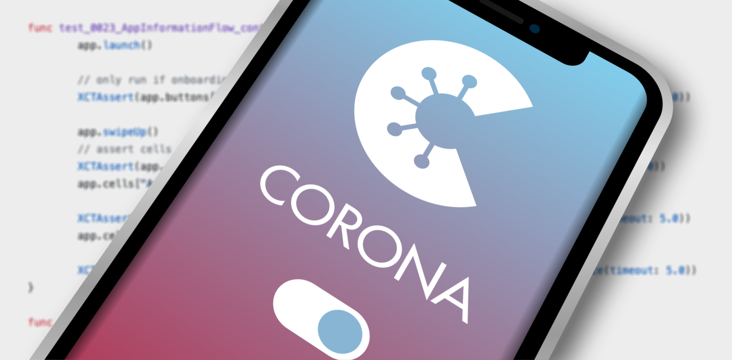 Gratis Download von iXimus.de: Smartphone, iPhone, Corona-App, Corona-Warn-App, iOS, Adroid, Deutschland, Covid-19, Corona, Application, Hintergrund mit Code, #000272