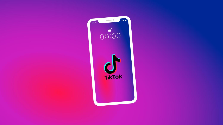 Gratis Download von iXimus.de: Symbolbild TikTok App, Smartphone weiß, iPhone, weiß, #000291-3