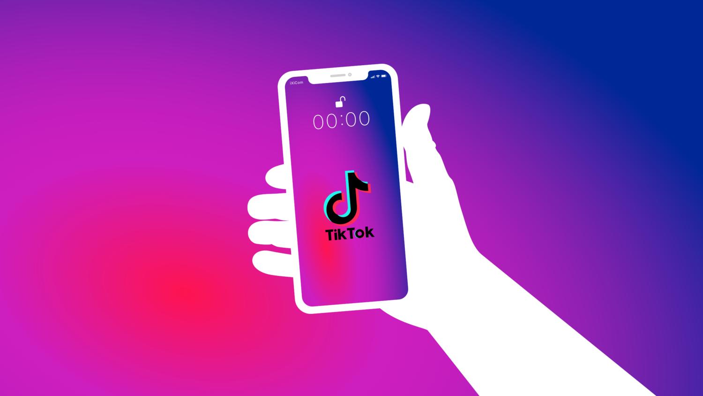 Gratis Download von iXimus.de: Symbolbild TikTok App, Smartphone weiß, iPhone, weiß, weiße Hand, #000291-4