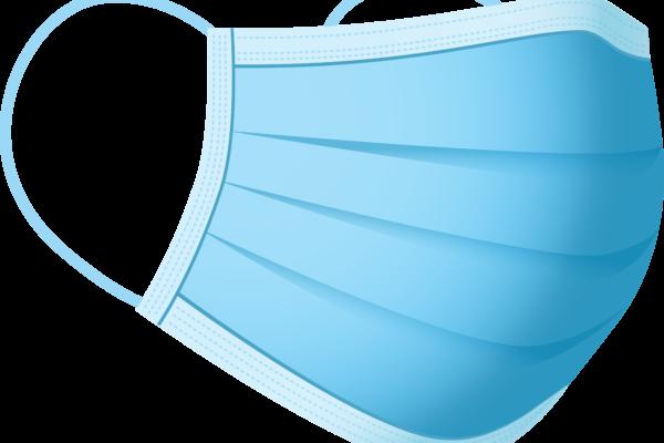 Gratis Download von iXimus.de: Mundschutz, Atemmaske, blau, freigestellt, Vektor-Datei #000307