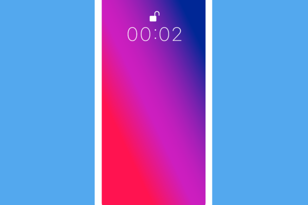 Gratis Download von iXimus.de: Smartphone, iPhone, Symbol, Icon, weiß, blauer Hintergrund, #000319-1