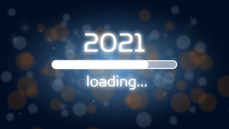 Download von iXimus.de: Ladebalken Grafik Jahreswechsel, 2021, glückliches neues Jahr, Grüße, Silvester, Neujahr, blau, #000401