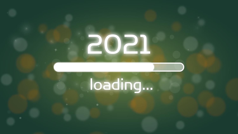 Download von iXimus.de: Ladebalken Grafik Jahreswechsel, 2021, glückliches neues Jahr, Grüße, Silvester, Neujahr, grün, #000402