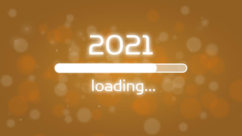 Download von iXimus.de: Ladebalken Grafik Jahreswechsel, 2021, glückliches neues Jahr, Grüße, Silvester, Neujahr, gold, #000403