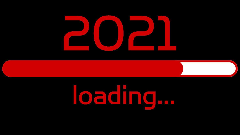 Download von iXimus.de: Ladebalken Grafik Jahreswechsel, 2021, glückliches neues Jahr, Grüße, Silvester, Neujahr, freigestellt, rot, #000404